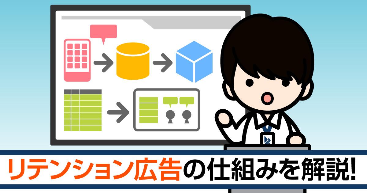 リテンション施策/広告:第2回<br>【リテンション広告の仕組みを解説!】